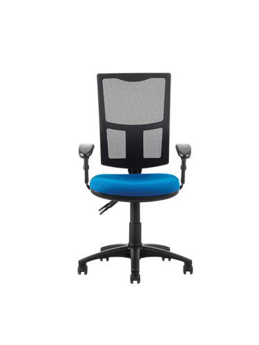 Goal Networker Mesh Back Chair Black Fabric Height Adjustable Arms Supplied in Box Ref GL7/M15