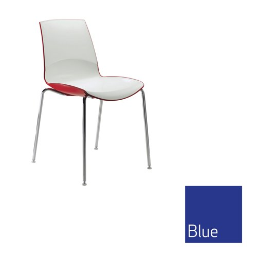 Ice 4 Leg Stacking Chair Blue Outer Shell Ref MNO1