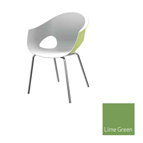 Zest Dual Colour Stacking Chair Lime Green Outer Shell Ref MJU2A