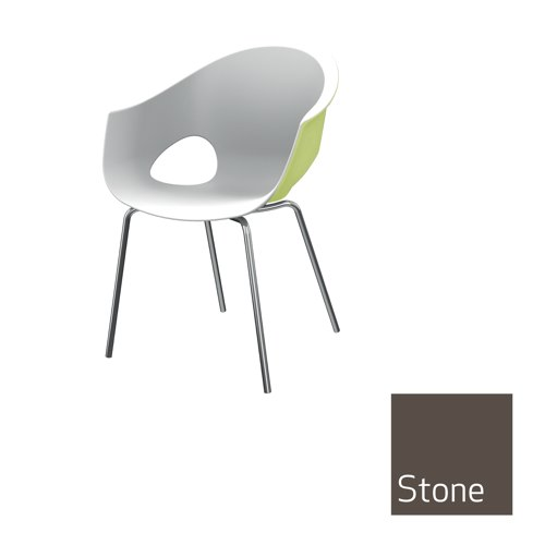 Zest Dual Colour Stacking Chair Stone Outer Shell Ref MJU2A