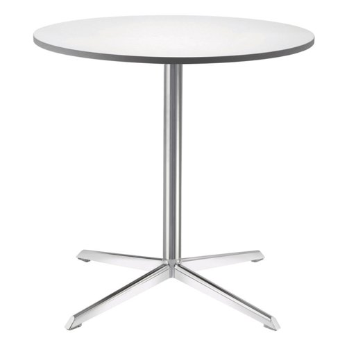 Frosted Glass Top Gloss Table 800 x 720mm Ref TGLD/RND0800GLX/S145