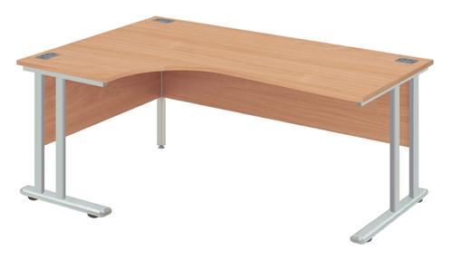 Left Core Desk 1600x1200x730mm White
