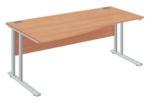 Left Wave Desk 1400x1000x730mm Beech