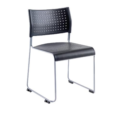 Twilight Stacking Chair Black