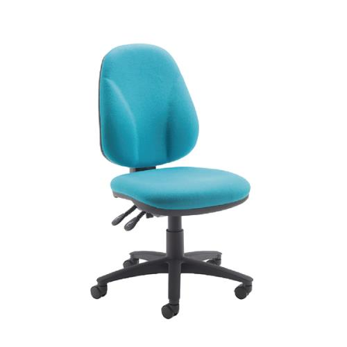 Concept High Back Operator Chair No Arms Blue