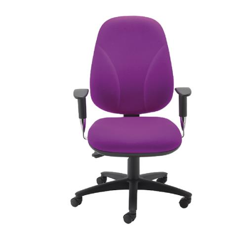 Concept Maxi Back Visitor Chair No Arms Black