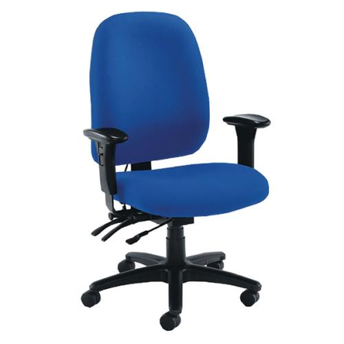 Desk Chairs Vista Posture High Back Chair Royal Blue