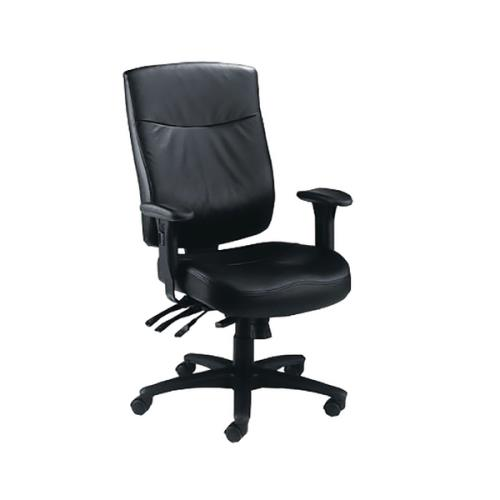 Desk Chairs Marathon Heavy Duty Chair Black Leather
