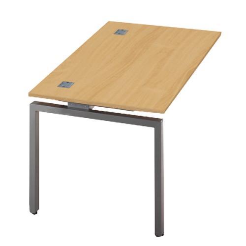 Fraction Single Bench Desk Shared Leg 1400x800x725mm Nova Oak