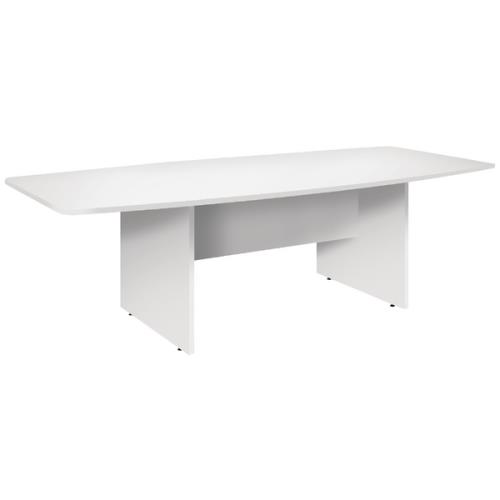 Conference Barrel Shaped Tables White 2400 x 1200 x 730mm