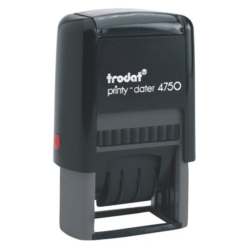 Trodat Printy 4750 Self Inking Date Stamp 40x24mm With 4mm Date Ref S4750 Each