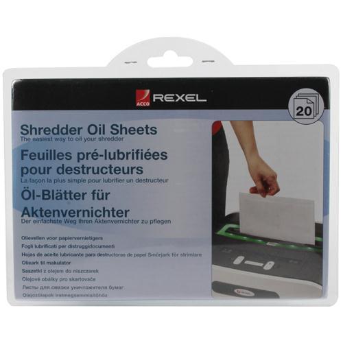 Rexel Non auto oiling Oil Sheets 2101949 Pk 20