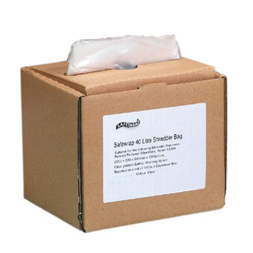 Safewrap 40 Litre Shredder Bag 355x630x650mm Box 100 Ref 0470
