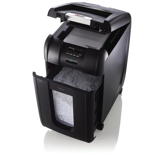 Rexel Auto+ 300M Micro Cut Shredder Black 2104300