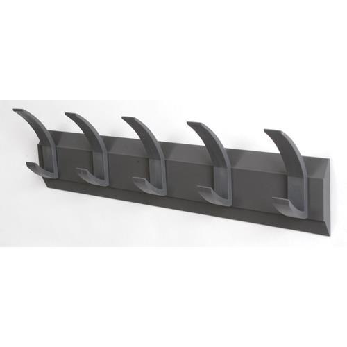 Acorn Linear 5 Hook Wall Mounted Coat Rack Grey Ref 319875