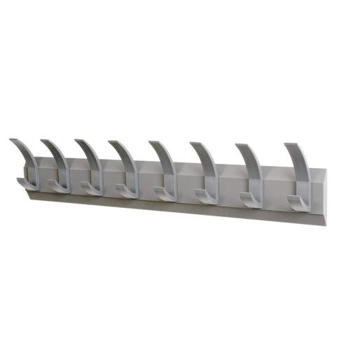Acorn Linear Coat Rack Wall Mounted 8 Hooks Graphite