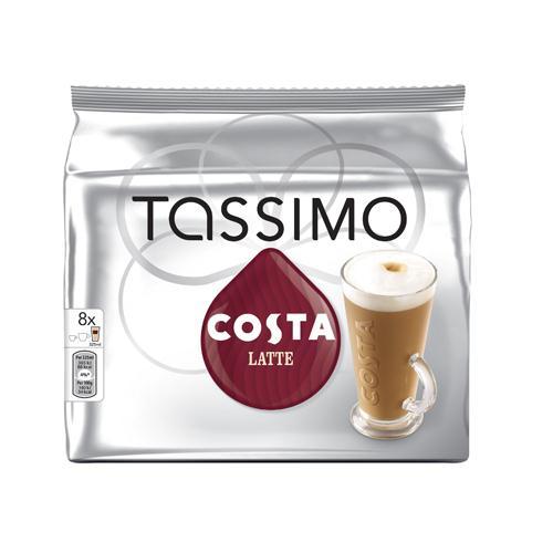 Tassimo Costa Latte Coffee Capsules Pack of 40