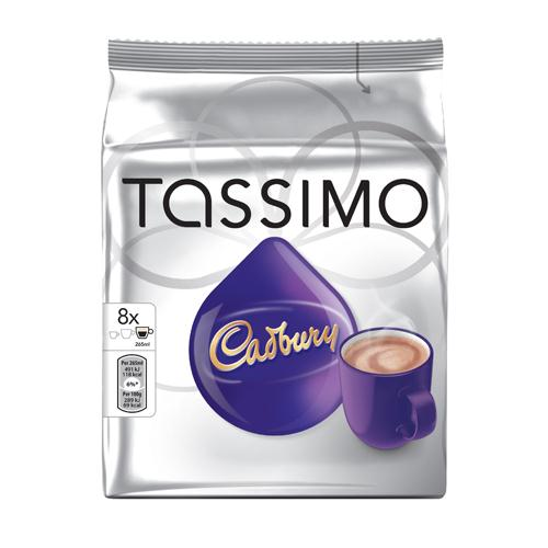 Tassimo Cadbury Hot Chocolate Pack of 5 x 8 Capsules REF 131270
