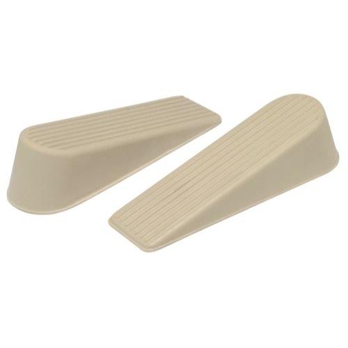Standard Rubber Door Wedge Almond Pack 2 Ref 9132