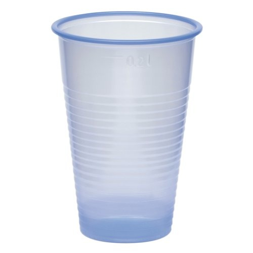 Caterpack Blue Plastic Water Drinking Cups Pack of 50