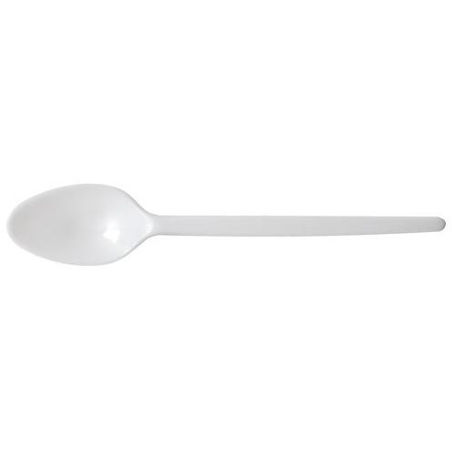 White Plastic Teaspoons Pack of 200