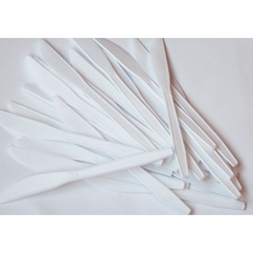 Disposable Plastic Knives White (Pack of 100) Ref 0512006