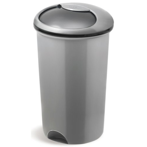 Addis Smart Round Bin Base 50 Litre Metallic Grey (Pack of 1) Ref 503579