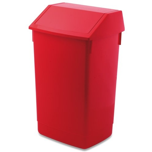 Addis Flip Top Bin 54 Litre Red Ref 510800 Each