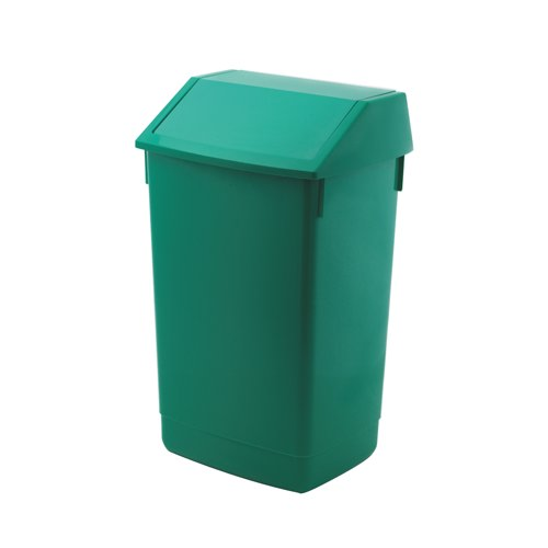 Addis Flip Top Bin 54 Litre Green Ref 510797