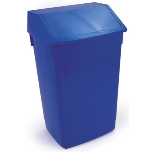Addis Flip Top Bin 54 Litre Blue + Lid Ref 501796