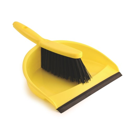 Dustpan & Soft Brush Set Yellow (Pack of 1) Ref 8011/Y
