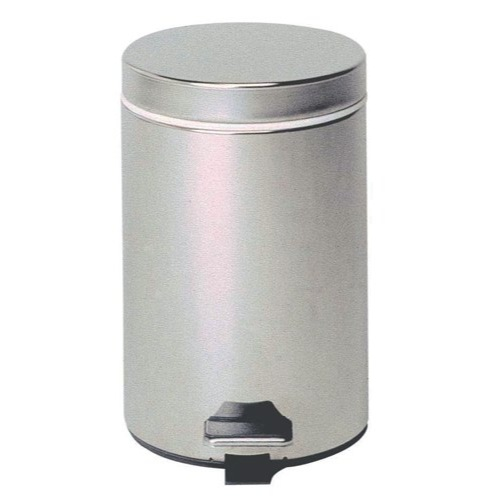 Steel Pedal Bin With Plastic Liner 12 Litre Silver (Pack of 1) Ref KCO568W12