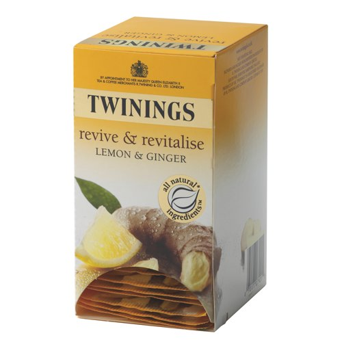 Twinings Lemon and Ginger Infusion Tea Bags Pack of 20