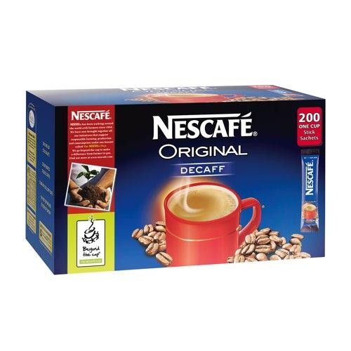 Nescafé Original Decaffeinated Instant Coffee Sachets Pack of 200 Sticks