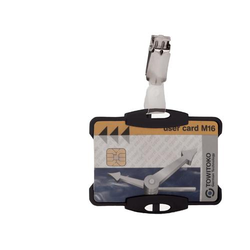 Durable Security Pass Holder Pk 25 Black 8118/01