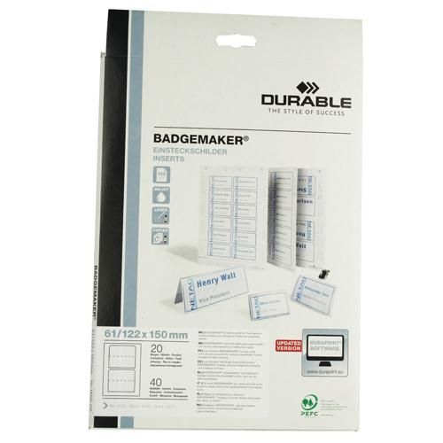 Durable Badgemaker 40 Inserts 61x150mm 1459/02