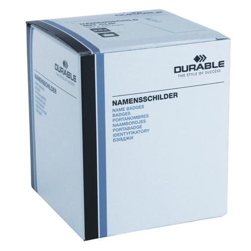 Durable Name Badge 90x60mm Security Fastener Pk 25 8002