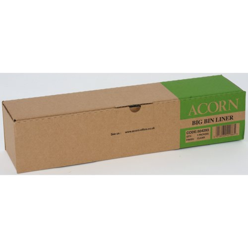 Acorn Waste Paper Recycling Bin Liners 95 Litre Capacity Packed 50 Ref 504293
