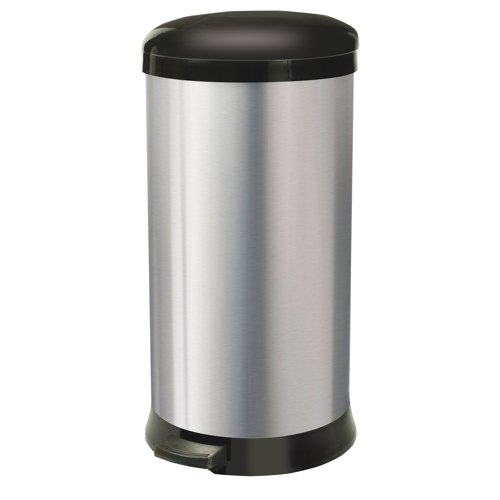 Addis Silver / Grey 30L Soft Close Bin REF 507650