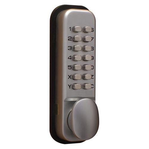 Lockit Mechanical Push Button Digital Lock Chrome /CDXLOCKITHB
