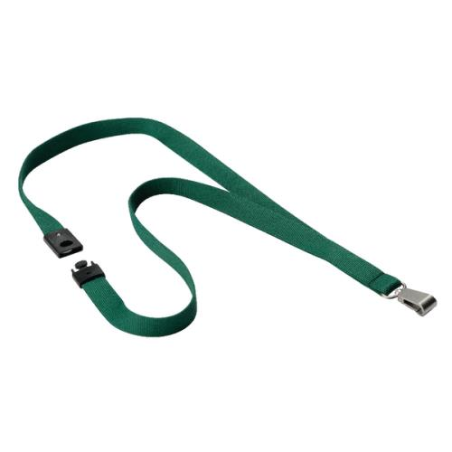 Durable Textile Lanyard with Snap Hook 15mm Dark Green 812732