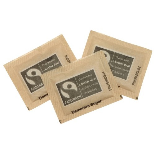 Fairtrade Brown Demerara Sugar Sachets Pack of 1000