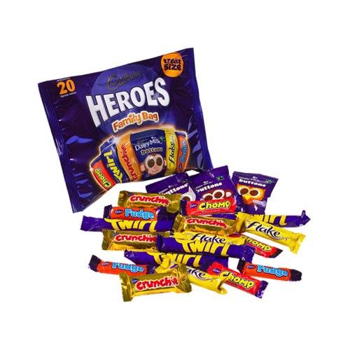 Cadbury Heroes Chocolates 278g Family Bag Pack of 20