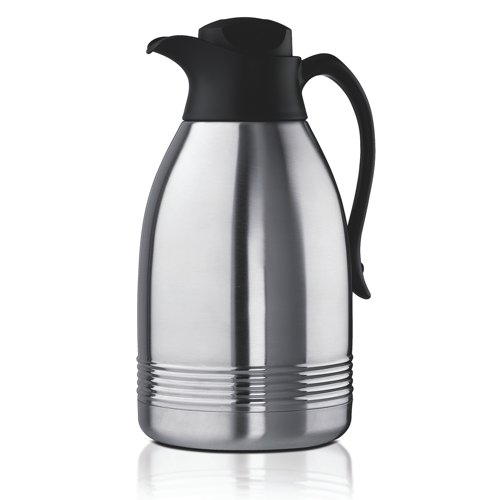 Addis Stainless Steel Diplomat Vacuum Jug 2 Litre Steel/Black (Pack of 1) Ref 629181600