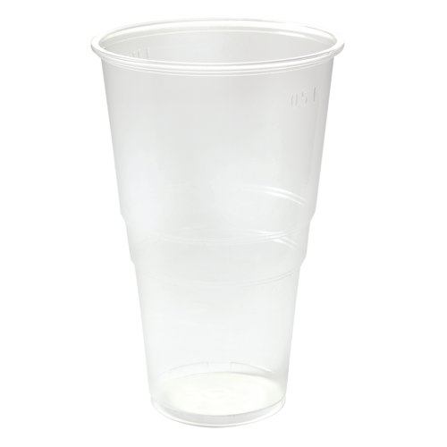 Disposable Plastic Pint Glasses 568ml Clear (Pack of 50) Ref VPLFG617