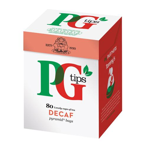 PG Tips Pyramid Decaffeinated Tea Bags (Pack of 80) Ref 28618501