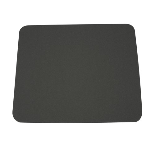 Fellowes Economy Mouse Mat Rubber Sponge Backed and Non-Slip Base Silver Ref 29702 Each