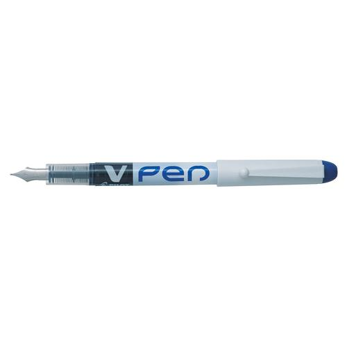 Pilot VPen Disposable Fountain Pen Blue Ink White Barrel SV4W03