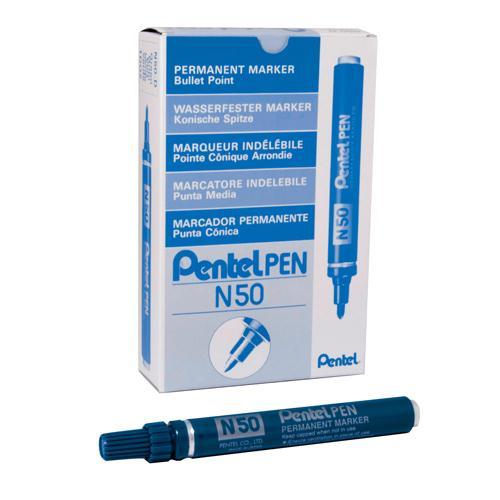 Pentel Permanent Marker Bullet Tip Blue N50-C