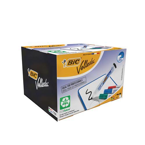 Bic Velleda Whiteboard Marker 1701 Bullet Tip Assorted Pk 48 927259